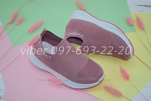 Кроссовки летние Little арт. 513-4 для девочки кеды р. 32-36 кросівки