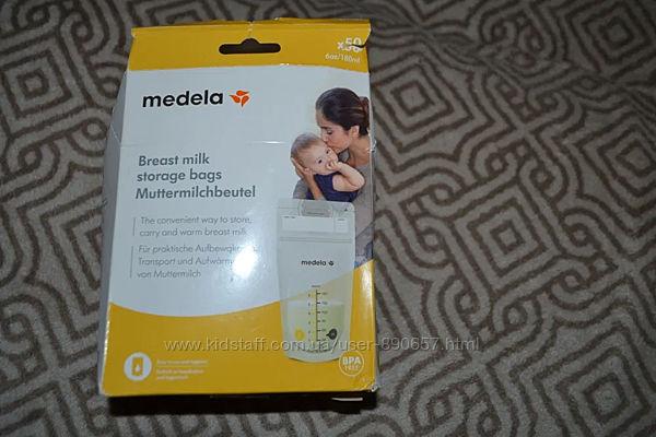 Пакеты контейнеры для хранения заморозки молока Medela