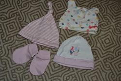 Шапочки новорожденной антицарапки 1-3 мес H&M