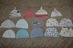 Шапочки шапочки новорожденному 0-3 мес H&M