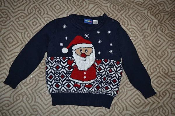Новогодний свитер Lupilu рост 80 на 12 мес Германия