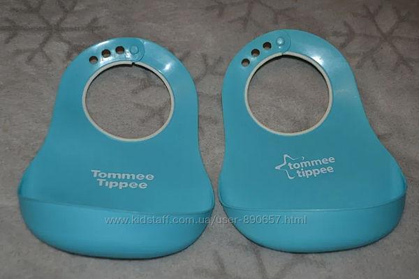Пластиковые слюнявчики Tommy tippee