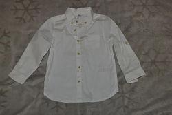 Новая белая рубашка M&S 24 мес рост 92 Англия