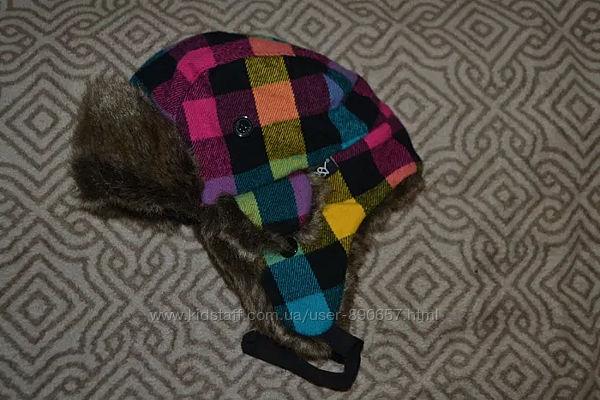Зимняя шапка ушанка D&Y Англия 3-6 лет