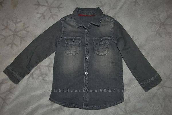 Джинсовая рубашка Mothercare 2-3 года рост 98 Англия
