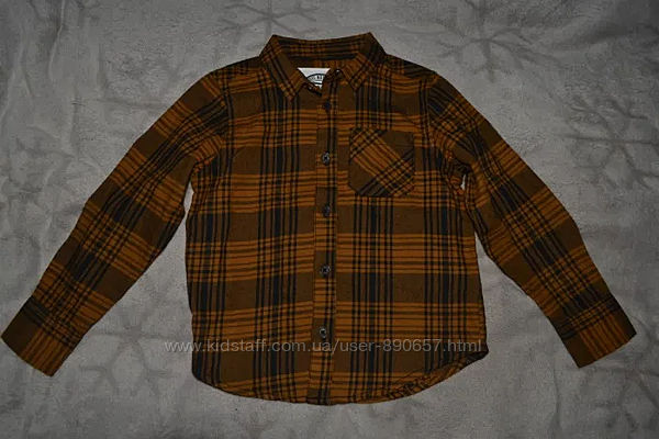 Нвоая байковая рубашка Matalan 4 года Англия