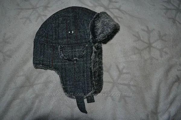 Новая зимняя шапка ушанка Harris Tweed John Rocha Англия ог 58-60