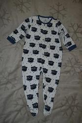 Хлопковая пижама Next 9-12 мес рост 80 Англия