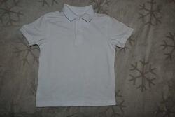 новая белая футболка поло мальчику TU 3 года рост 98 Англия