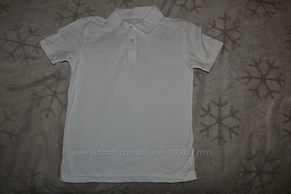 новая белая футболка поло Nutmeg 9-10 лет рост 134-140 Англия