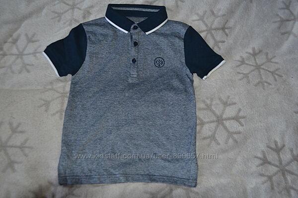 новая футболка поло Primark 7 лет рост 122 Англия