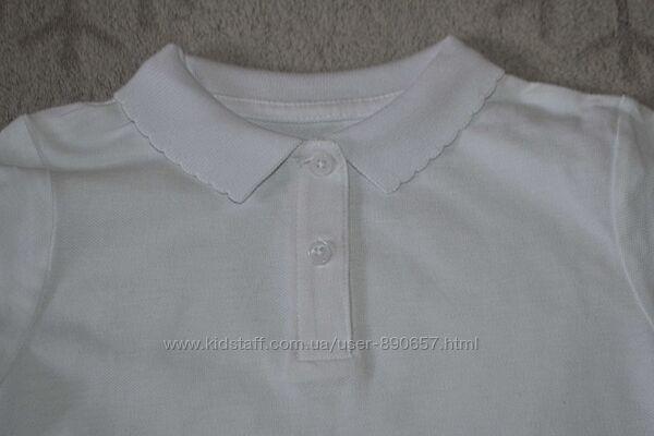 новая футболка поло девочке F&F 7 лет рост 122 Англия