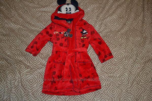 банный флисовый халат Disney mini club рост 86-92 на 2 года Англия