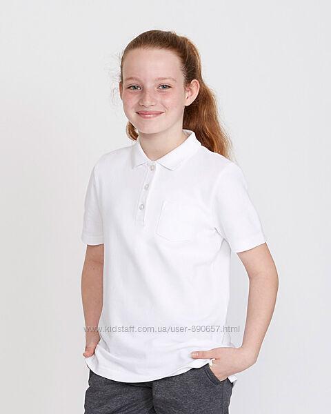 новая футболка поло девочке F&F 7-8 лет рост 122-128 Англия