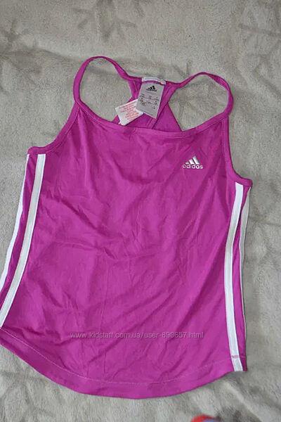 спортивная термо футболка девочке Adidas 7-8 лет рост 122-128