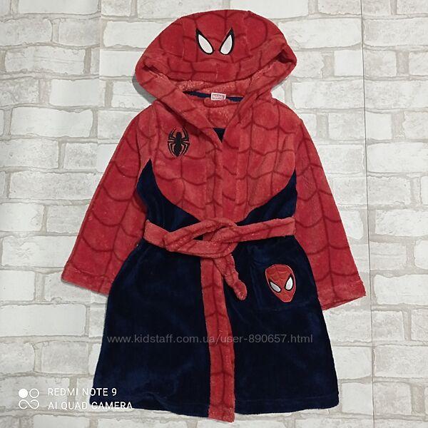 халат флисовый 4-5лет  104-110 рост spidermanTU