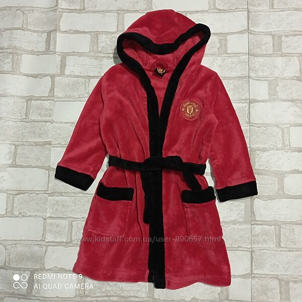 халат флисовый 3-4 года 98-104 рост Manchester United