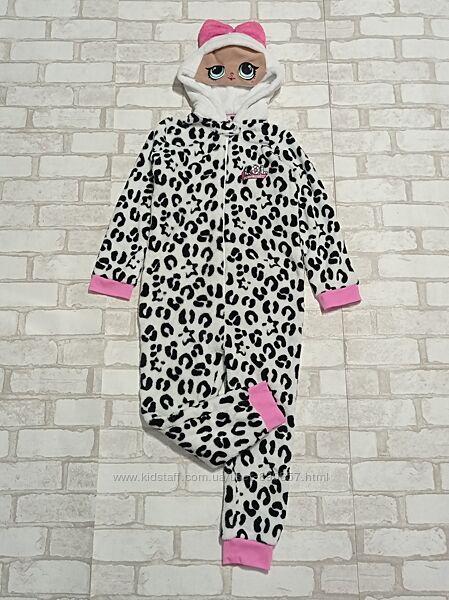 Пижама человечек флисовый 7-8 лет 122- 128 рост Lola