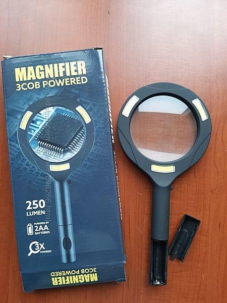 Лупа ручна з підсвічуванням Magnifying Glass Lens 9033