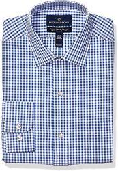 Рубашка мужская Buttoned Down Navy Gingham, 15 Neck 34 -35 Sleeve . США