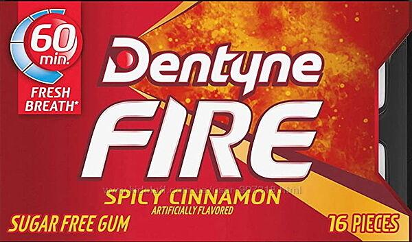 Жевательная резинка Dentyne Fire Spicy Cinnamon Sugar Free Gum жвачка США.