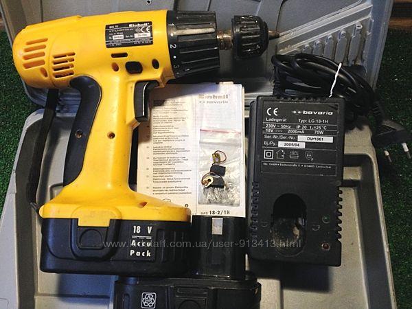 Аккумуляторная дрель-шуруповерт Einhell Bavaria BAS 18-2/1H 2 щетки запасны