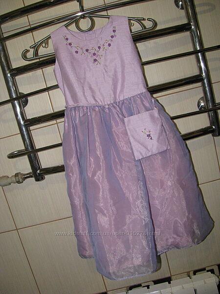 Лиловое платье palomino,110рост 5-6 лет
