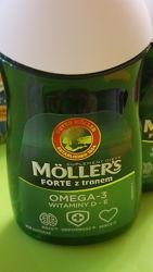 Mollers tran omega-3 Норвежский рыбий жир. Натуральный в капсулах 112шт.