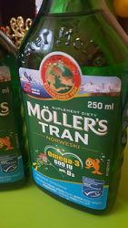 mollers Омега-3  рибячий жир Моллерс . Фруктовий смак НОРВЕГІЯ