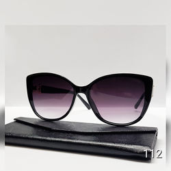 Сонцезахисні окуляри чорні із вставками на дужкі