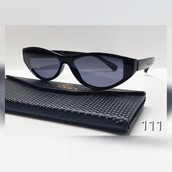 Стильні жіночі чорні окуляри лисички