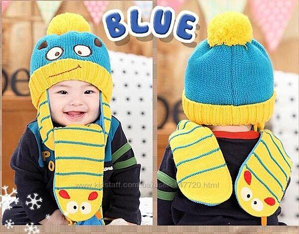Зимняя шапка-шарф
