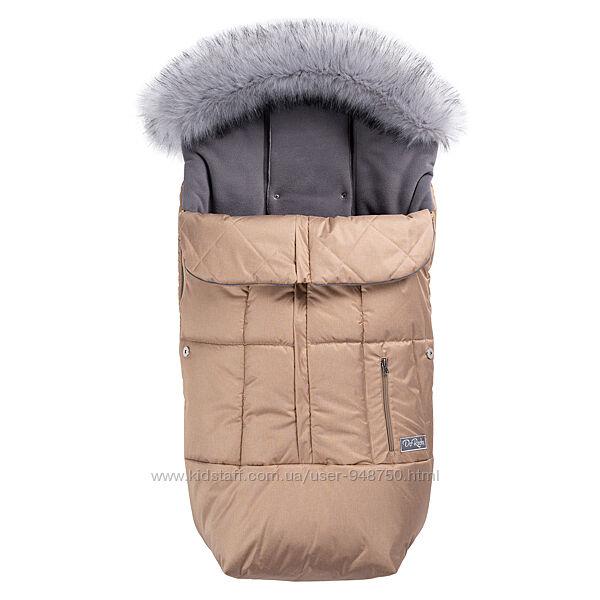 Зимний флисовый конверт-чехол с опушкой TREND - Тм Доречі Украина