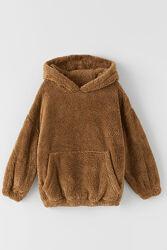 Меховая кофта кенгуру на девочку 134 см, Zara