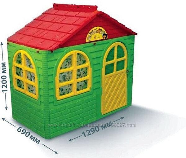 Детский игровой пластиковый домик со шторками Doloni 02550/13