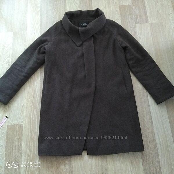 Пальто пальтишко Оверсайз шоколадного цвета размер 40 наш 46-48