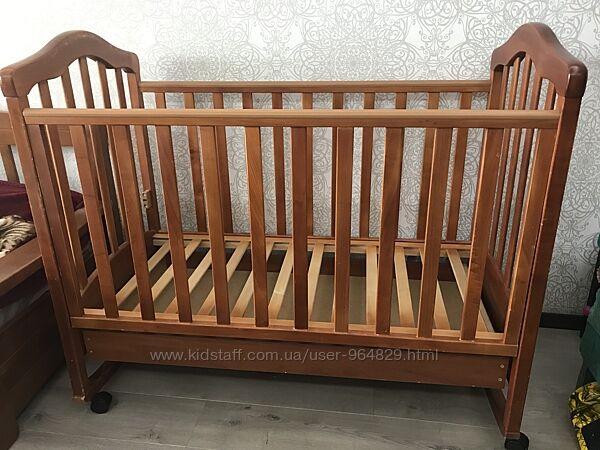 Продам детскую кроватку Верес с ящиком