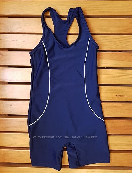 Спортивный слитный купальник синий и черный george на 4-5 лет