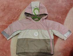 Демисезонная курточка H&M для девочки 4-6 месяцев
