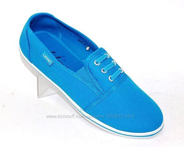 Голубые женские кеды