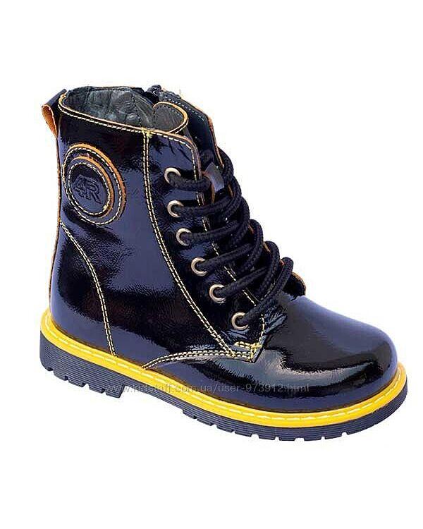 Ортопедические лаковые ботинки