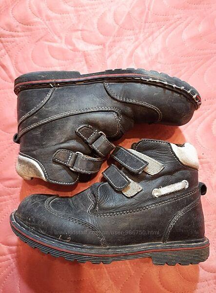 Ботинки демисезонные кожанные ортопедические