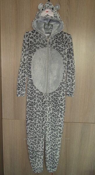 Кигуруми пижама слип флисовый Леопард размер XS