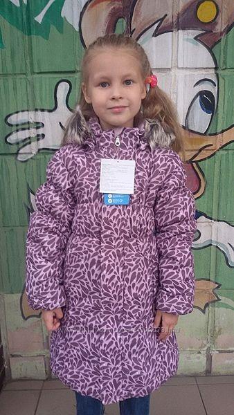 Пальто зимнее для девочки LASSIE BY REIMA 122 размер