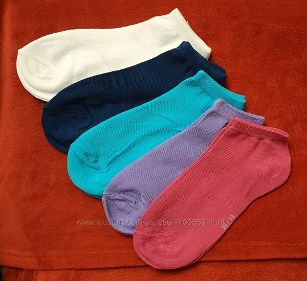 Женские короткие носки под кроссовки, 35-38, 39-42