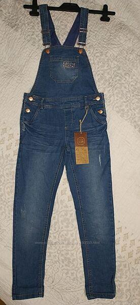 Полукомбинезон джинсовый для девочки Cool Club, р.140