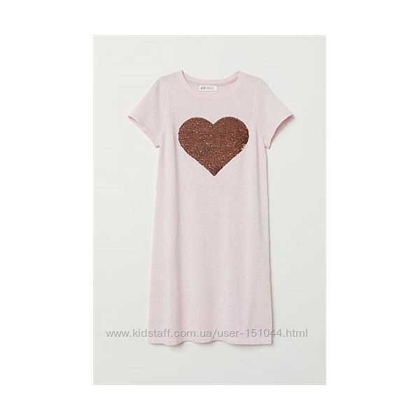 Платье с сердцем паетки H&M