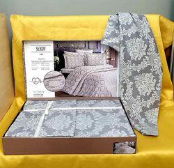 Жаккардовое постельное белье сатин хлопок 100 Sendy. Турция
