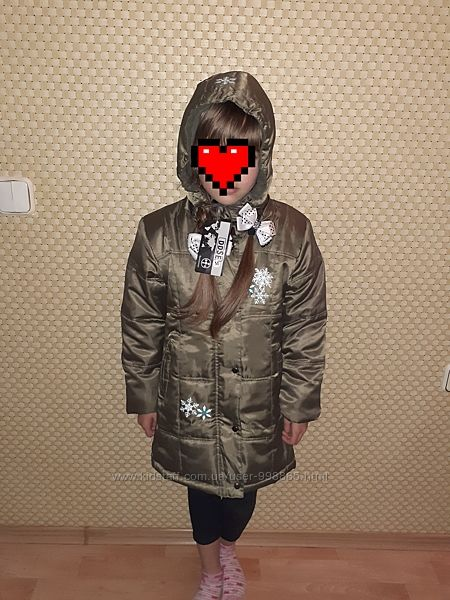 Новое Пальто на девочку 128-134 см