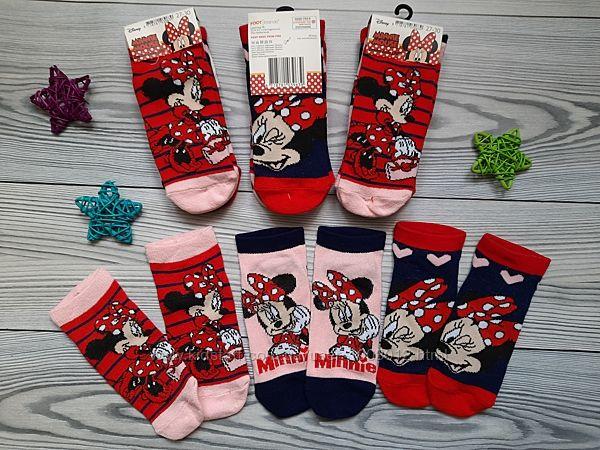 Комплект носков 3 пары минни маус весна-лето Disney Дисней